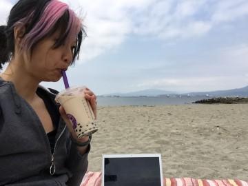 at beach office
