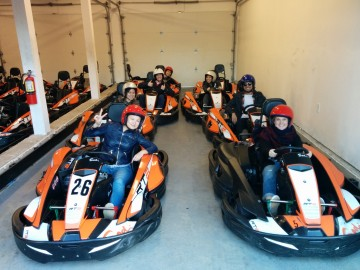 for our 2015 lab trip we sped around a racetrack