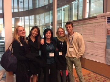 lab undergraduates present their research at the CADDRA conference (Vancouver, October 2015)