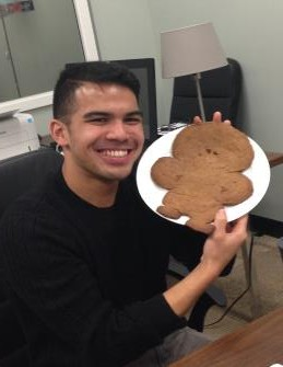 lab secret valentine: Adri receives a cookie made in his likeness
